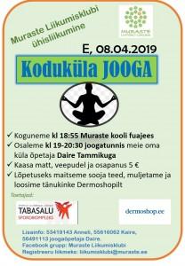 Koduküla JOOGA 08.04.19