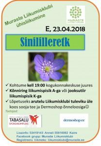 Sinililleretk 23.04.18