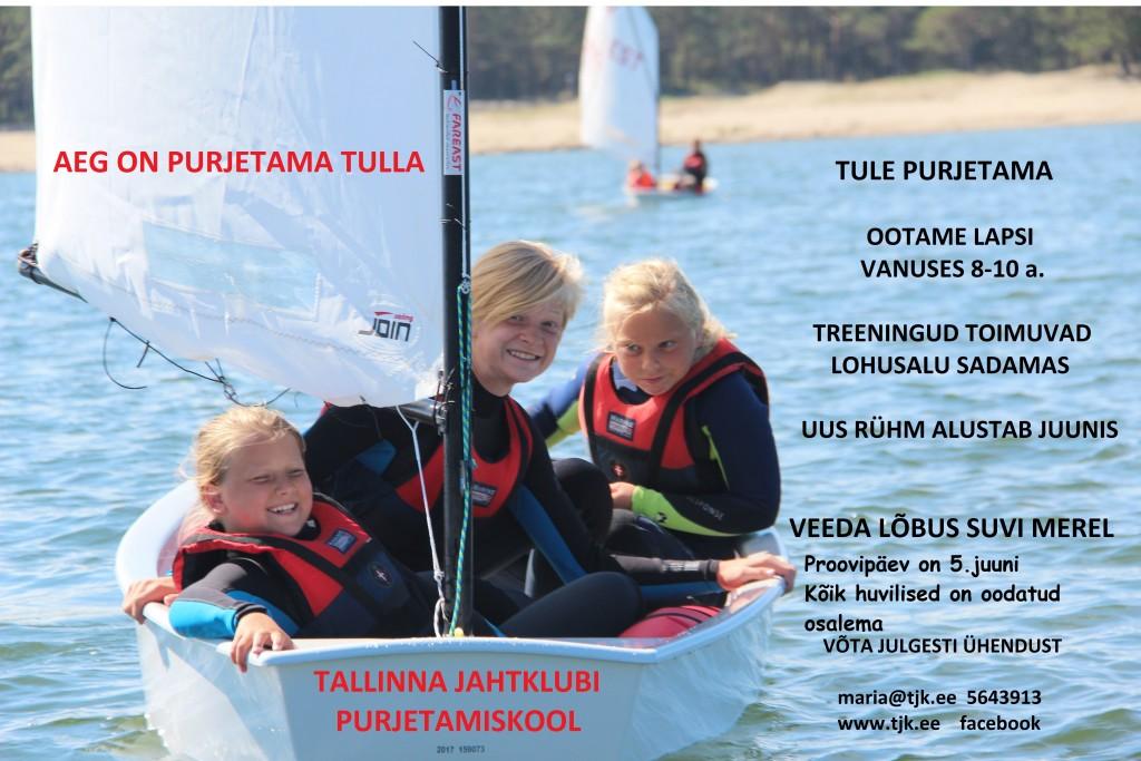 Tallinna Jahtklubi otsib uusi purjetajaid